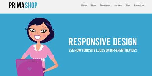 Temas WordPress para sitios de comercio electrónico: Prima Shop