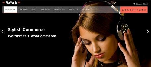 Temas WordPress para sitios de comercio electrónico: Reverb