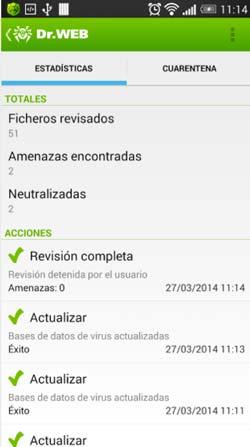 Antivirus para Android gratis: Dr. Web