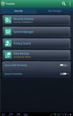 Antivirus para Android gratis: TrustGo Mobile Security