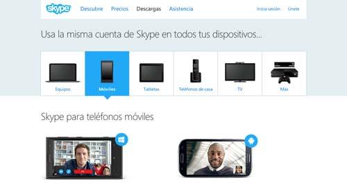 Aplicaciones moviles para realizar llamadas gratuitas: Skype