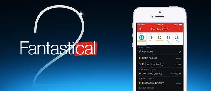 Aplicaciones moviles útiles en tu vida profesional: Fantastical 2