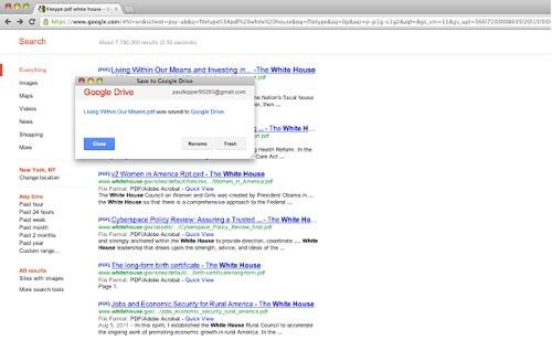 Extensiones Google Chrome para administradores WordPress: Save to Google Drive