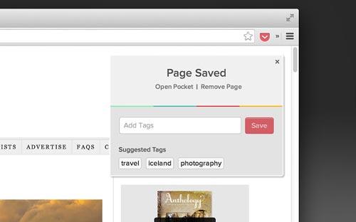 Extensiones Google Chrome para administradores WordPress: Save to Pocket