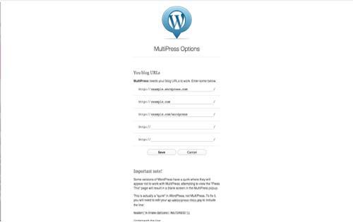 Extensiones Google Chrome para WordPress:  Multipress