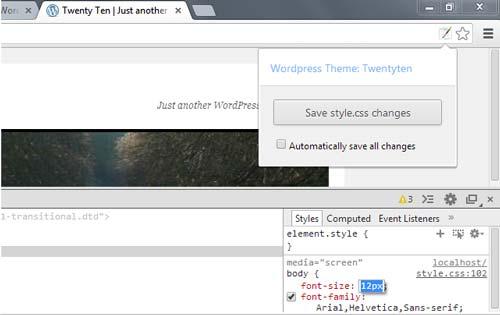 Extensiones Google Chrome: WordPress Style Editor