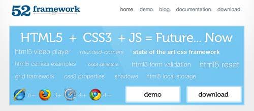 Framework para crear formularios HTML:  52framework