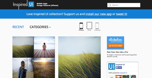 Web con patrones de interfaz de usuario: Inspired UI