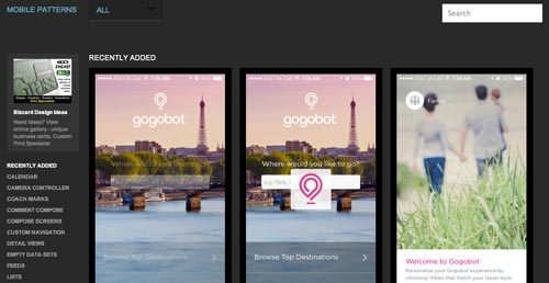 Web con patrones de interfaz de usuario: Mobile Patterns