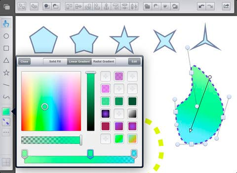 iOS app para diseño de logos: Freeform