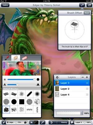 iOS app para diseño de logos: Layers