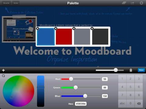 iOS app para diseño de logos: Moodboard