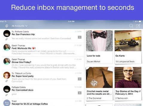 iOS app para correos: Cannonball Mail