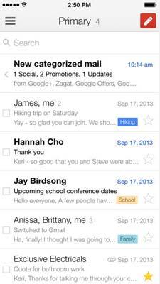 iOS app para correos: Gmail