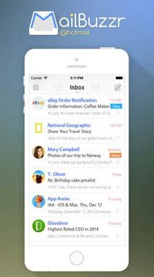 iOS app para correos: MailBuzzr