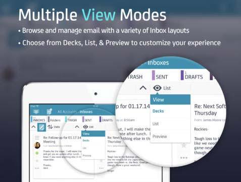 iOS app para correos: MailDeck