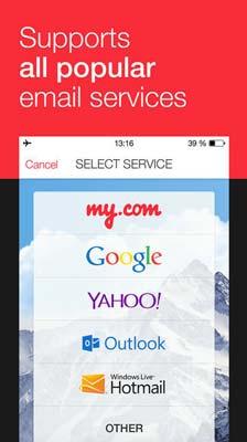 iOS app para correos: MyMail