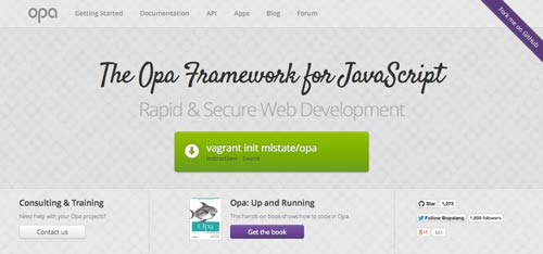 JavaScript Framework The Opa Framework