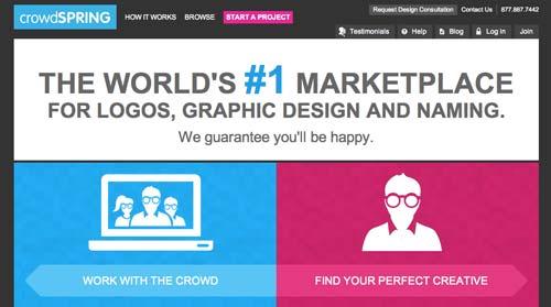 Mercado online para diseñadores: CrowdSpring