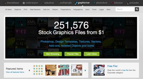 Mercado online para diseñadores: GraphicRiver