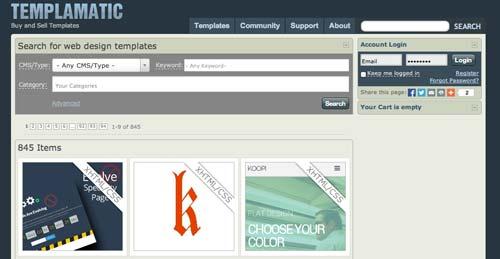 Mercado online para diseñadores: Templamatic