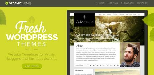Mercado online para temas WordPress: Organic Themes