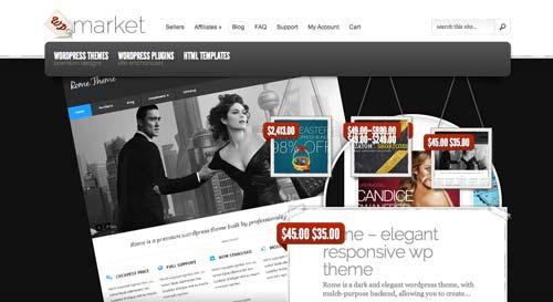 8 opciones de mercado online para comprar temas Wordpress