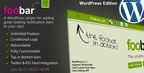 Plugin WordPress para añadir barras de notificación: Foobar