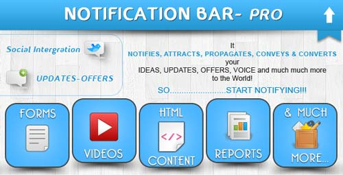 Plugin WordPress para añadir barras de notificación:  Notification Bar Pro