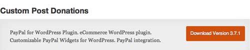 Plugin WordPress para campañas de donación: Custom Post Donations