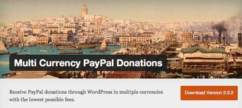 Plugin WordPress para campañas de donación:  Multi Currency PayPal Donations
