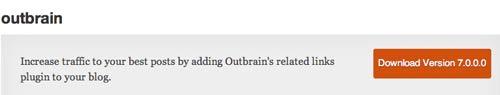 Plugin WordPress para añadir entradas relacionadas Outbrain