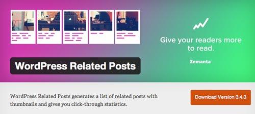Plugin WordPress para añadir entradas relacionadas: WordPress Related Posts