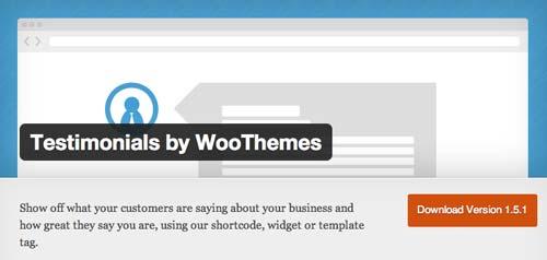 Plugin WordPress para añadir testimonios: Testimonial by WooThemes