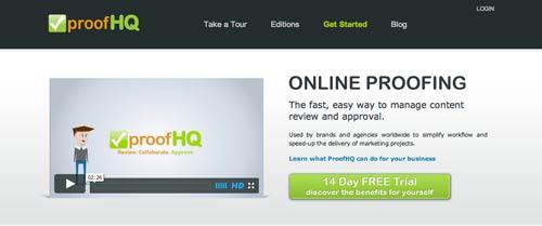 Programa para gestión de proyectos animados: ProofHQ