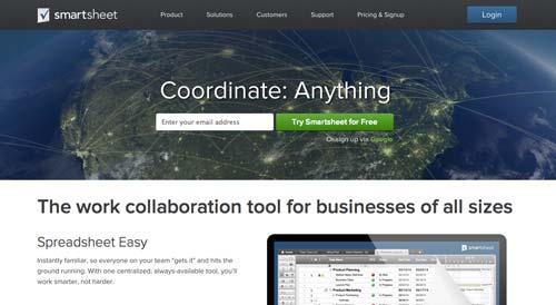 Programa para gestión de proyectos animados: Smartsheet