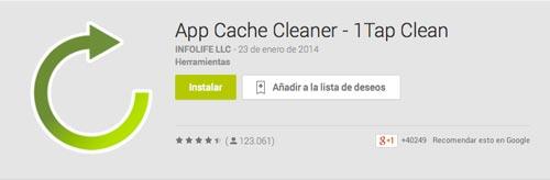 Programas para Android para automatizar procesos: App Cache Cleaner