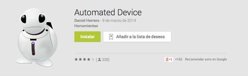 Programas para Android para automatizar procesos:  Automated Device
