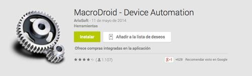 Programas para Android para automatizar procesos: MacroDroid
