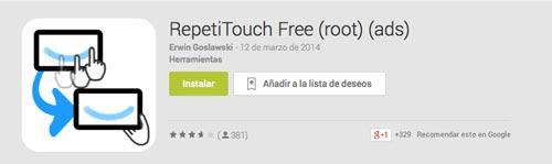 Programas para Android para automatizar procesos: RepetiTouch