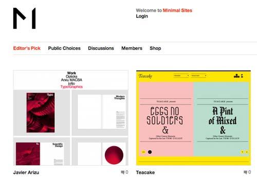 Sitios web donde encontrar ideas inspiradoras: Minimal Sites