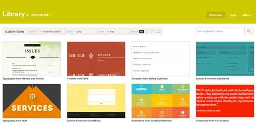 Sitios web donde encontrar ideas inspiradoras: Pattern Tap