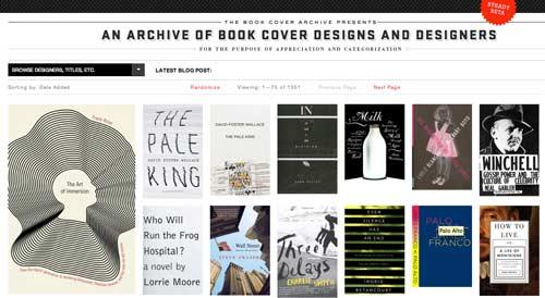 Sitios web donde encontrar ideas inspiradoras: The Book Cover Archive