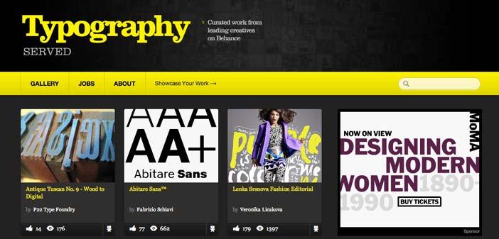 Sitios web donde encontrar ideas inspiradoras: Typography