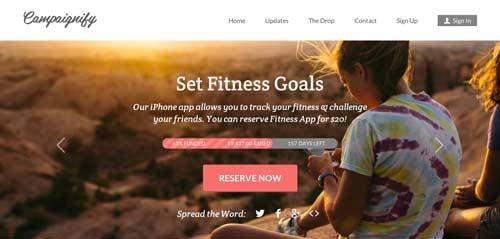 Temas WordPress para proyectos de financiación colectiva: Campaignify