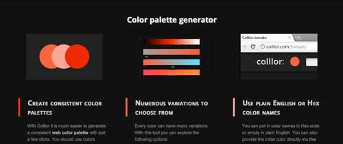 Generador de paletas de colores: Collor