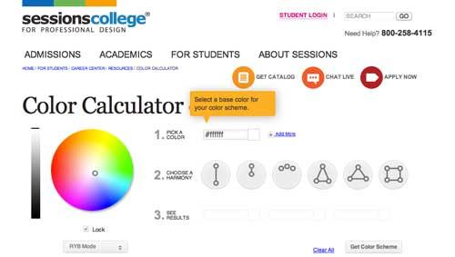 Generador de paletas de colores: Color Calculator