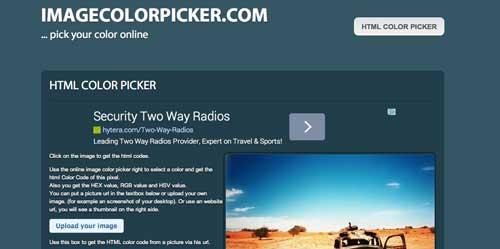 Generador de paletas de colores: Image Color Picker