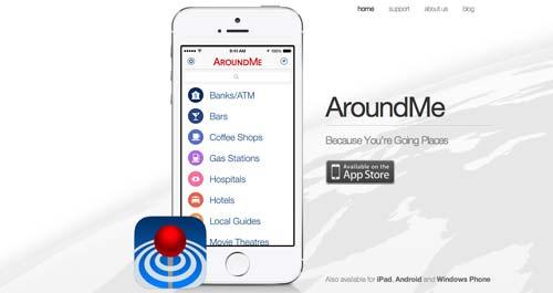Aplicaciones moviles para viajeros: AroundMe
