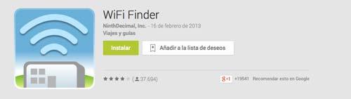 Aplicaciones moviles para viajeros: WiFi Finder